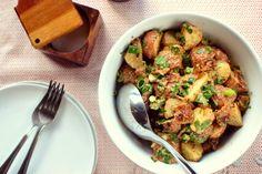 Grilled Potato Salad + Bacon-Dijon Vinaigrette ll www.SimplyScratch.com