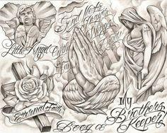 chicano tattoo drawings | chicano style flashes - Dragon-Tattoo Hamburg