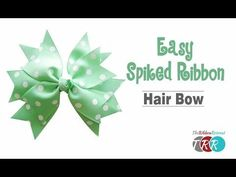 How to Make an Easy Spiked Ribbon Hair Bow - TheRibbonRetreat.com - YouTube