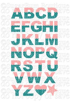 Mermaid Alphabet svg by SugarBumBoutique on Etsy