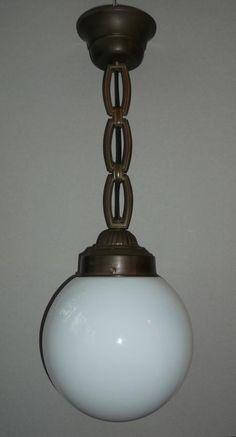 Lampa wisząca - Art-Deco - mosiądz - unikalna!!!