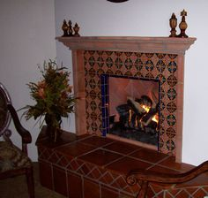 1000 images about fireplace ideas on pinterest spanish for Spanish style fireplace