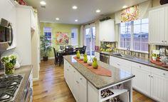 Beautiful kitchen from Dahlquist Rivera NorCal Open Galley Kitchen, Big Kitchen, Kitchen And Bath, Kitchen Decor, Kitchen Design, Galley Kitchens, White Kitchens, Kitchen Island, Beautiful Kitchens