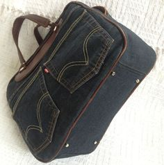 Jeans Bags - I like the leather piping and other details