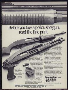 1982 REMINGTON Model 870P Police Shotgun PRINT AD : Other Collectibles at…