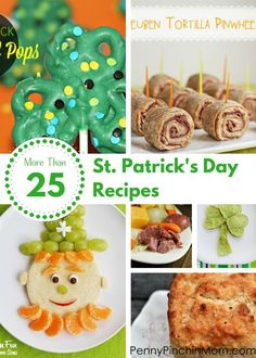 More Than 25 St. Patrick's Day Recipes--from breakfast to dinner to dessert! St. Patrick's Day is coming up soon! While you don you green apparel that day, don't forget to make some yummy dishes for your party or family too!
