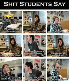 Lol. This is so true. Can we use a calculator is the best though
