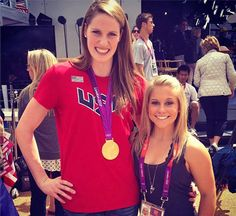 Missy Franklin (L), and gymnast Shawn Johnson That's a joke hahaha