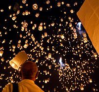 Sky lanterns  A nice way to end an event but also a great way acknowledge those loved ones who have passed away.