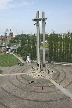 Monument to the Fallen Shipyard Workers of 1970 in Gdansk Gdansk Poland, Central Europe, Lithuania, Czech Republic, Cn Tower, Wind Turbine, Germany, City, History