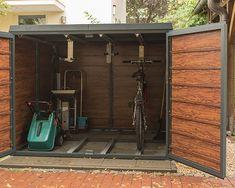 Construction Garage, Outdoor Bike Storage, Aluminium, Backyard Landscaping, Organize, Gardening, House Design, Landscape, Decoration
