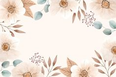 Download Hand Drawn Floral Background for free
