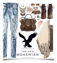 """The New Bohemian with American Eagle Outfitters: Contest Entry"" by ittie-kittie ❤ liked on Polyvore"