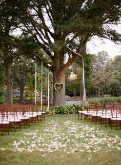 Outdoor, white & green ceremony location (via @Matty Chuah Knot)