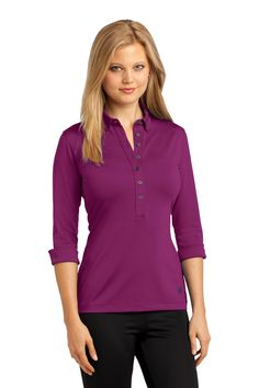 OGIO Ladies Gauge Polo. LOG122 Berry burst