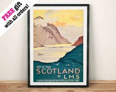 SCOTLAND LAKE POSTER: Vintage Highland Advert by ThePrintArcade