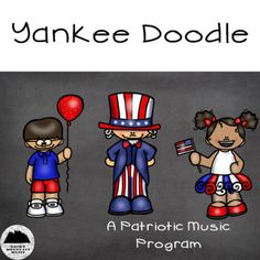 Yankee Doodle patriotic music program is perfect for the music teacher on the go! Suggested for Kindergarten through 2nd grade, this patriotic concert is perfect for Veteran's Day, 4th of July, or anytime you need some songs about The United States. We strongly suggest that you have a Music K8 Subscription before buying this product.