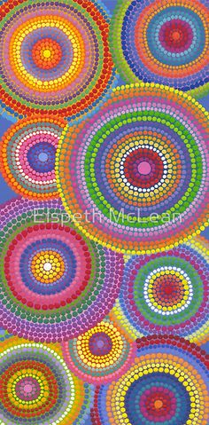 Dots upon dots, circles upon circles! / Infinite! / Original was acrylic on canvas, 2008 • Buy this artwork on apparel, phone cases, home decor, and more.