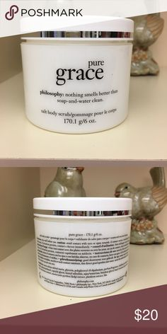 ‼️NEW‼️Philosophy Pure Grace Salt Body Scrub Use this scrub in the tub or shower for a unique and gentle way to exfoliate the skin. Leaves skin soft, never oily. PRICE FIRM. Philosophy Other