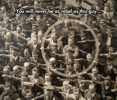 The Guy Who Doesn't Salute