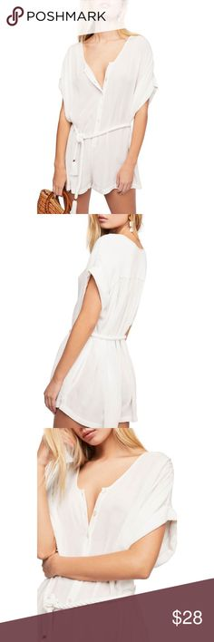 818738fcea56 Endless Summer by Free People SpanishSummer Romper NWOT Size-M Color-white  This lightweight