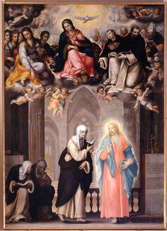 Crescenzio Gambarelli, Santa Caterina recita l'uffizio in compagnia di Gesù, 1602.