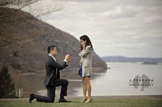 Video (and photos!) of an amazing proposal at Trophy Point. West Point engagement, West Point weddings, West Point Wedding Photographer