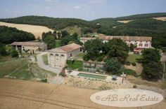 AB Real Estate France: 13th/18th Century Domain for Sale in Carcassonne area, Languedoc Roussillon, South of France
