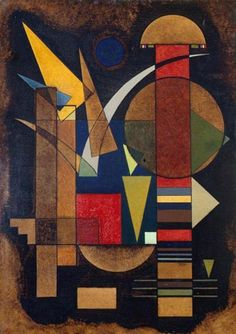 Wassily Kandinsky - Blue over Multicolored, 1925 - Wassily Kandinsky – Blue over Multicolored, 1925 - Abstract Oil, Abstract Landscape, Wassily Kandinsky Paintings, Museum Of Fine Arts, Vincent Van Gogh, Art For Sale, Painting Prints, Art Lessons, Canvas Wall Art