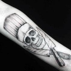 Cool Chef Knife Skull Male Arm Tattoo Designs | https://lomejordelaweb.es/