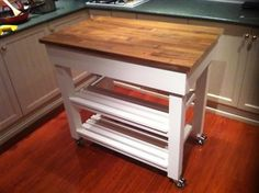 Island Kitchen, Kitchen Cart, Kitchen Benches, Entryway Tables, Furniture, Home Decor, Decoration Home, Kitchen Bench Seating, Room Decor