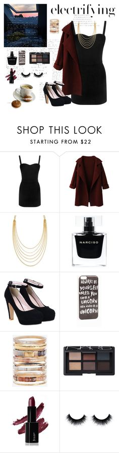 """""""for date"""" by blinktyan ❤ liked on Polyvore featuring Alexander McQueen, WithChic, White House Black Market, Narciso Rodriguez, JFR, Ashley Pittman, NARS Cosmetics, women's clothing, women's fashion and women"""