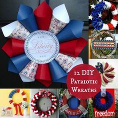 12 Patriotic DIY Fourth of July Wreaths