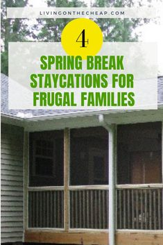 4 Spring Break Staycations for Frugal Families : If you?ll be spending spring break in your city instead of jetting off to an exotic location, try these fun, inexpensive ideas to keep you and your kids entertained. Spring Break Vacations, Spring Break Destinations, Family Vacation Destinations, Vacation Ideas, Spring Break Quotes, Spring Break Party, Florida Springs, Frugal Family, Spring Break