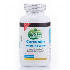 Vista Nutrition Curcumin with Piperine  120 Capsules