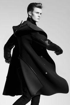 FASHIONISTO MAGAZINE Fashion styling; Gemma Capone, Judy Inc #fashionisto #men #menswear #style #fashion #clothing #blackandwhite #hair #man #photography #jacket #coat