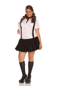 Naughty school girl fancy dress plus size