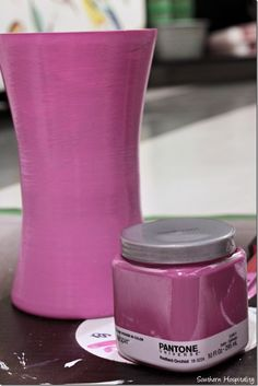 radiant orchid vase painted