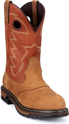 2775 Rocky Men's Branson Saddle Western Ropers - Brown