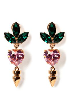 Rose Gold-Plated Crystal Drop Earrings by MAWI | Luxury fashion online | STYLEBOP.com