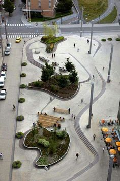 The Square of Jan Stenbeck a collaborative project between SWECO Architects and Funkia Landscape architects.