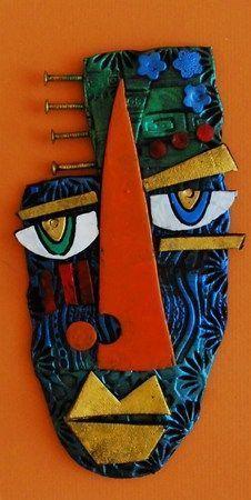 peuple de papier: Kimmy Cantrell The individual amount slumbering it's travel among snugly injury biceps, Paper Mache Sculpture, Art Sculpture, Art Pop, Assemblage Kunst, Kimmy Cantrell, Tableau Pop Art, Abstract Face Art, Afrique Art, Ceramic Mask