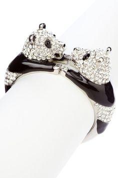 {Panda Bracelet} Meghan LA - happy Pandas holding hands bracelet!