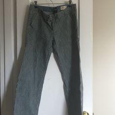 Pinstriped wide leg denim pants GAP limited edition pinstriped denim wide leg trousers, with stretch GAP Pants Wide Leg