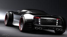 Audi Concept - Marouane Bembli is a designer from Stockholm, Sweden, who loves to create car concepts. The featured car is an Audi concept that he. Audi A, Audi Concept, Concept Cars, Sexy Cars, Hot Cars, Maserati, Bugatti, Ferrari F40, Lamborghini Gallardo