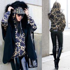 Christina Foka - Black Milk Clothing Leggings, Shelfies Hoodie, Oasap Bag - Chained