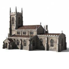 www.turbosquid.com - parish church