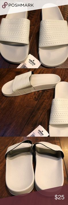 bf785b1c2 adidas Adilette slides in mint linen green New with tags