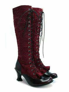 Raspberry witchy heels