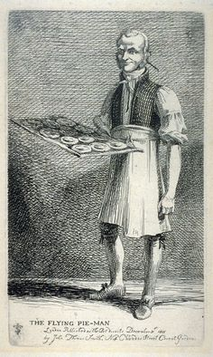 The Flying Pie-Man, from the series 'Etchings of Remarkable Beggars, Itinerant Traders, and other Persons of Notoriety in London and its Environs'